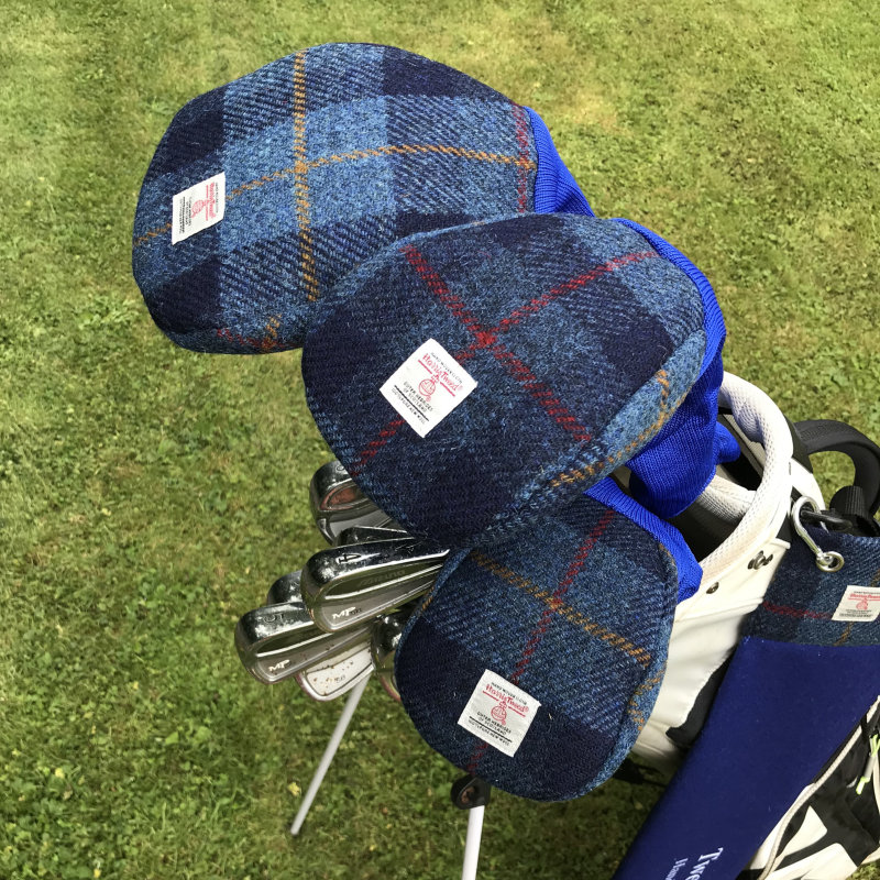 Harris Tweed® golf head covers are the perfect gift for any stylish golfer. Practical too as they protect the head of woods, drivers and putters