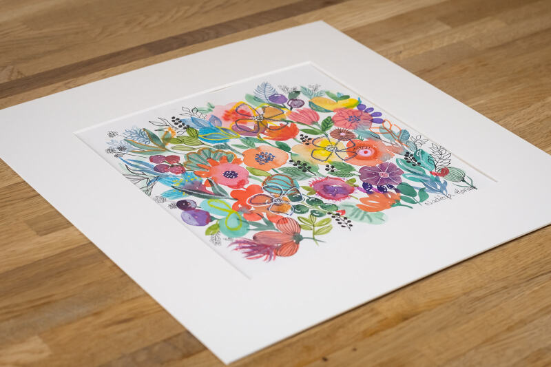 Gallery quality print, professionally printed using archival inks to guarantee that your print lasts a lifetime without fading.  Printed on heavy weight 300gsm cartridge paper, very similar to the original watercolour paper.