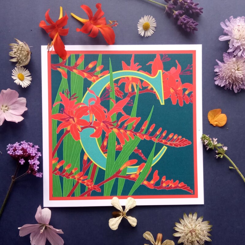 From the Plant Alphabet range of greetings cards