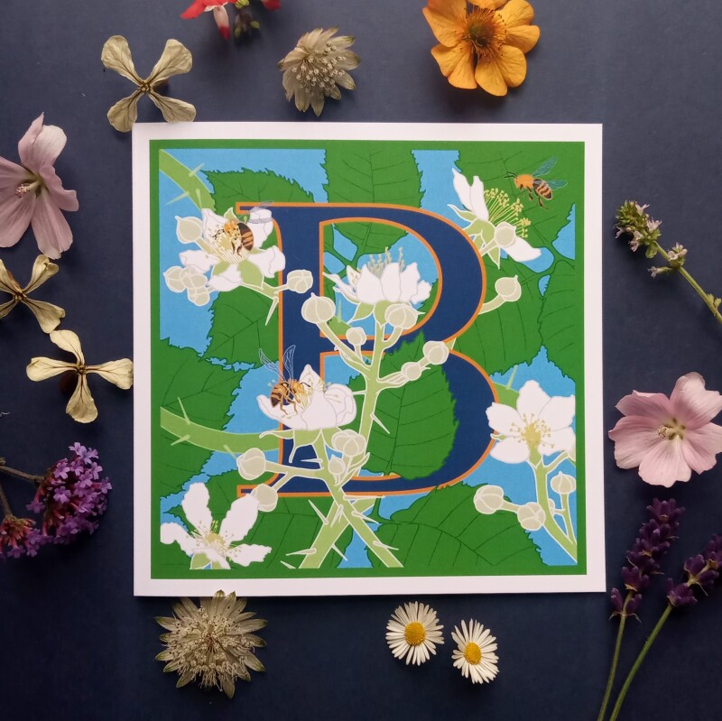From the Plant Alphabet range of greetings cards.