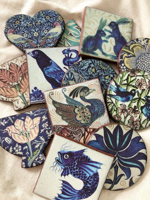 New additions to our range of Heritage brooches including William De Morgan and William Morris Designs. Handmade in Cornwall, UK.
