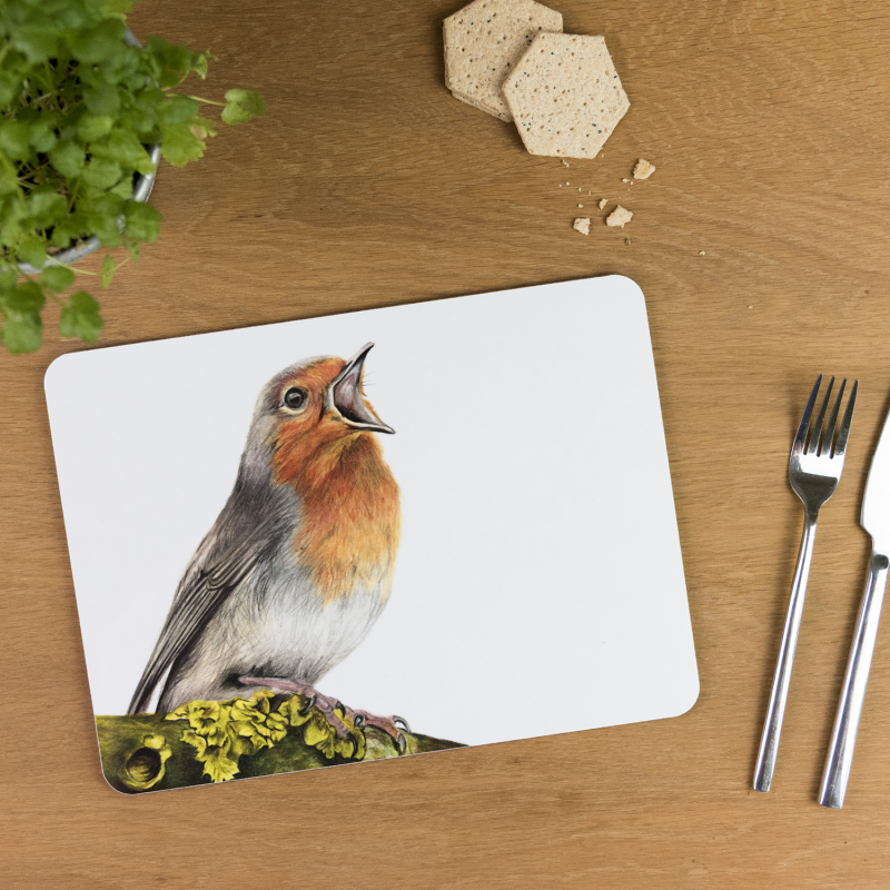 Tablemats are made of sustainably sourced Eucalyptus board base, a full melamine, glossy coated surface and cork backing.