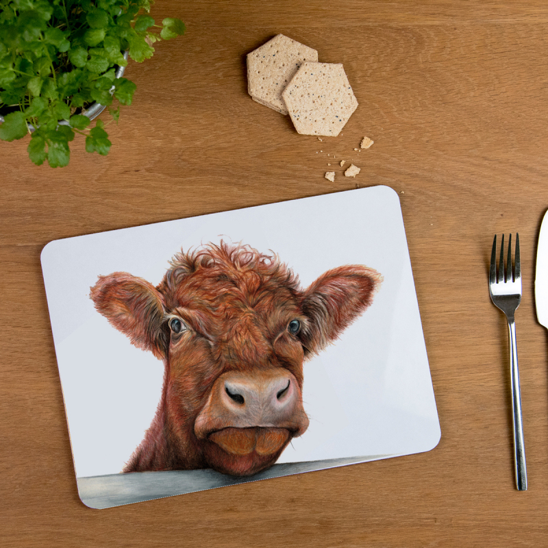 Our Tablemats are made of sustainably sourced Eucalyptus board base, a full melamine, glossy coated surface and cork backing