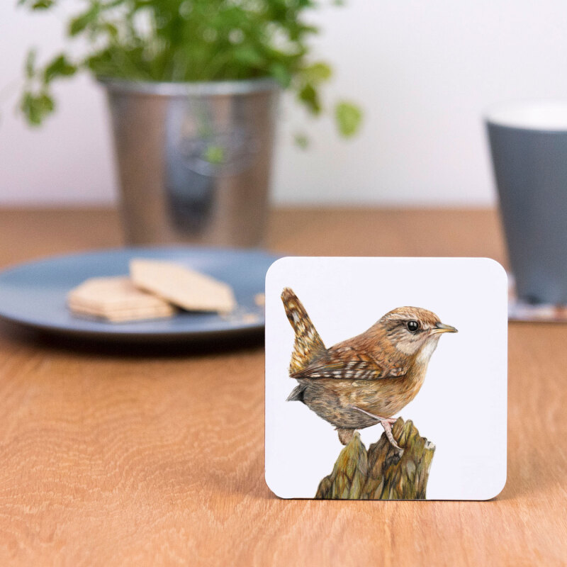 Coasters are made of sustainably sourced Eucalyptus board base, a full melamine, glossy coated surface and cork backing.