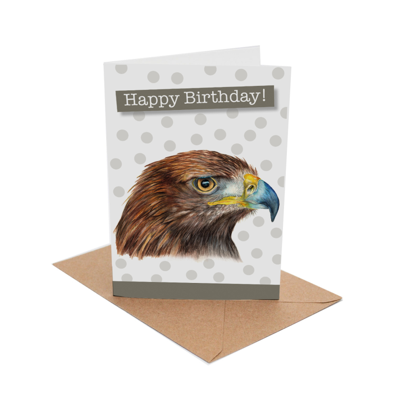 Birthday cards come with a brown kraft envelope and are securely wrapped in a cellopane sleeve.