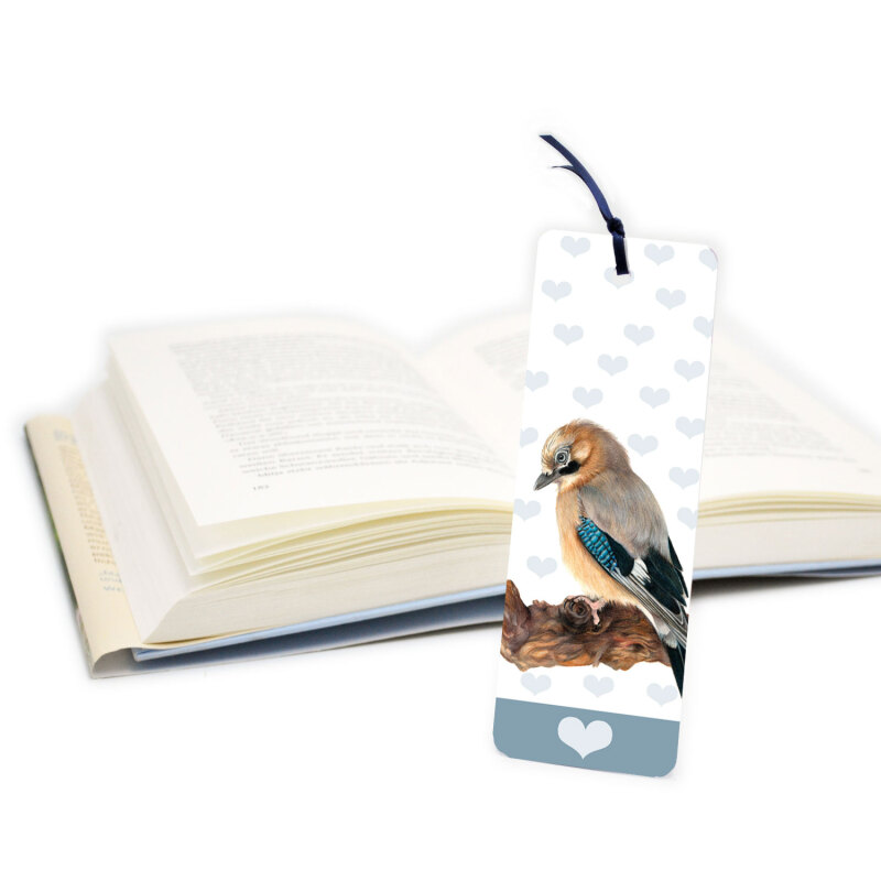 Quality paper bookmark is printed to both sides and has a gloss finish. It is sealed in a cellophane sleeve for added protection.