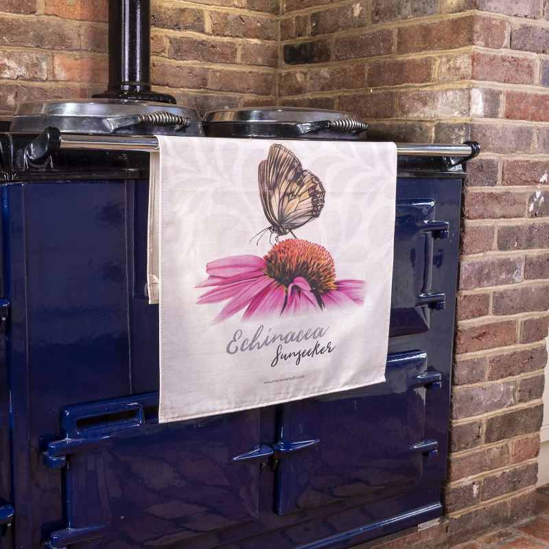 Large Tea Towels made from 100% premium, natural cotton (unbleached). They are digitally printed with vibrant colours. All Tea Towels are hemmed on all four sides and come with a hanging loop. The fabric is washable up to 30°C.