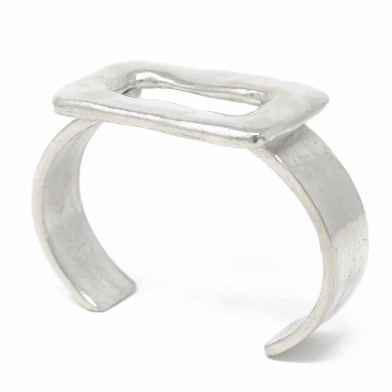 Sobo Large Pewter Ring Feature Bangle