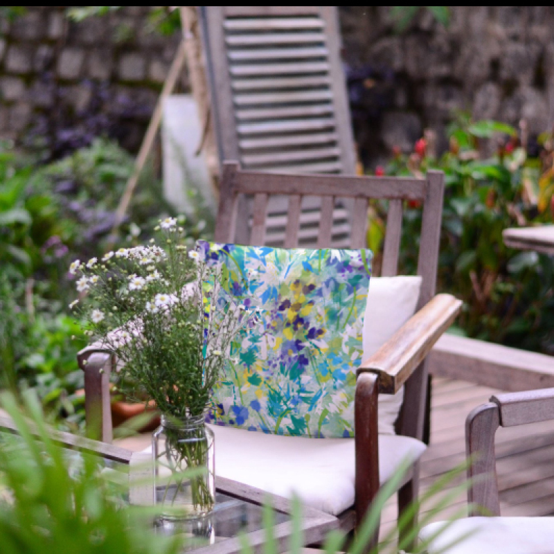 Beautiful depiction of our British Hedgerows; originally hand painted in the fields of Leicestershire and placed on Eco natural Handmade Cushions