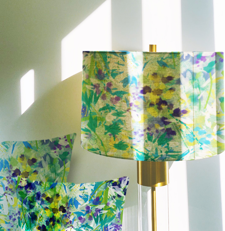 Continuing the beautiful range of this hand painted illustrated design placed on natural Cotton/linen for a natural organic lampshade in sizes 20, 30, or 40 cm(other sizes available)