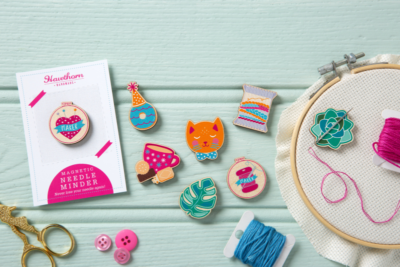 Never lose your needle again! These cute yet practical needle minders are the perfect accessory to your stitching and make wonderful gifts for embroidery fans. Lots of designs to choose from - maker pincushion, tea & biscuits, succulent & so on.