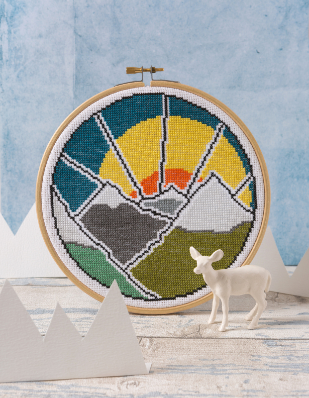 Mountain Adventure - Winner of the 2020 Best of Craft Awards 'Craft Kit of the Year'. Each kit is designed with the total beginner in mind, but the stunning and unique designs will also appeal to the most experienced of cross stitchers.