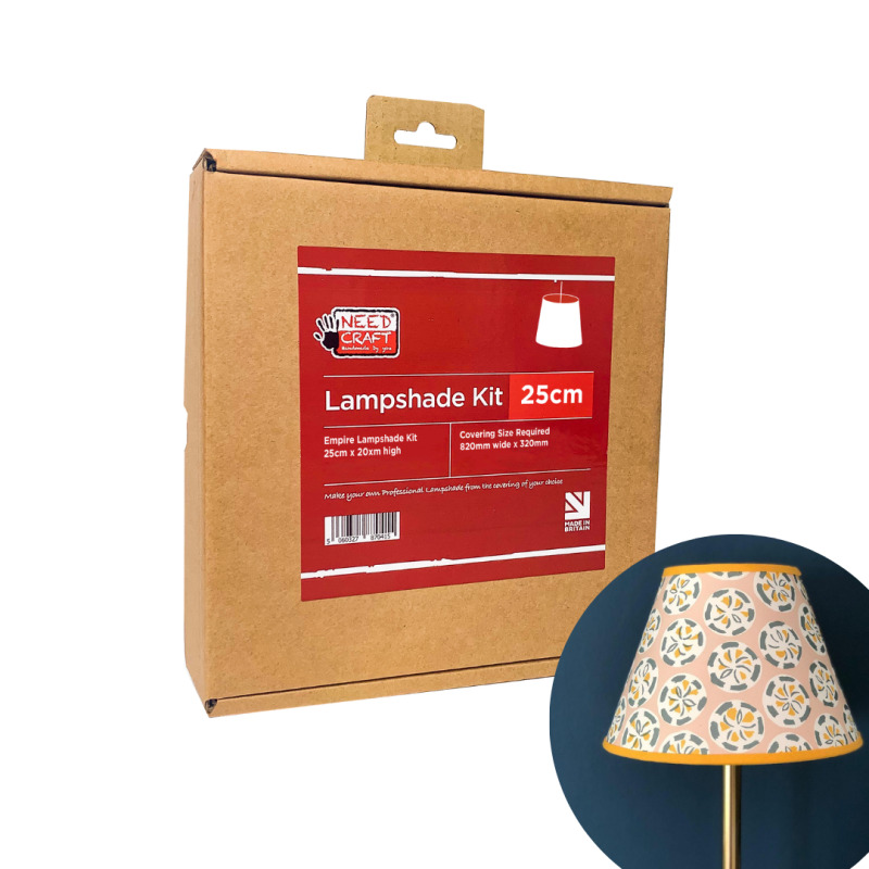 Coolie lampshades are regarded as contemporary and modern in design they can be used as ceiling pendants or with table and floor lamps. Our kits contain everything you need to make professional Coolie style Lampshades. Available in 30cm and 45cm