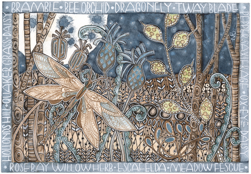 Limited edition print - Inspired by an ancient hay meadow in Suffolk