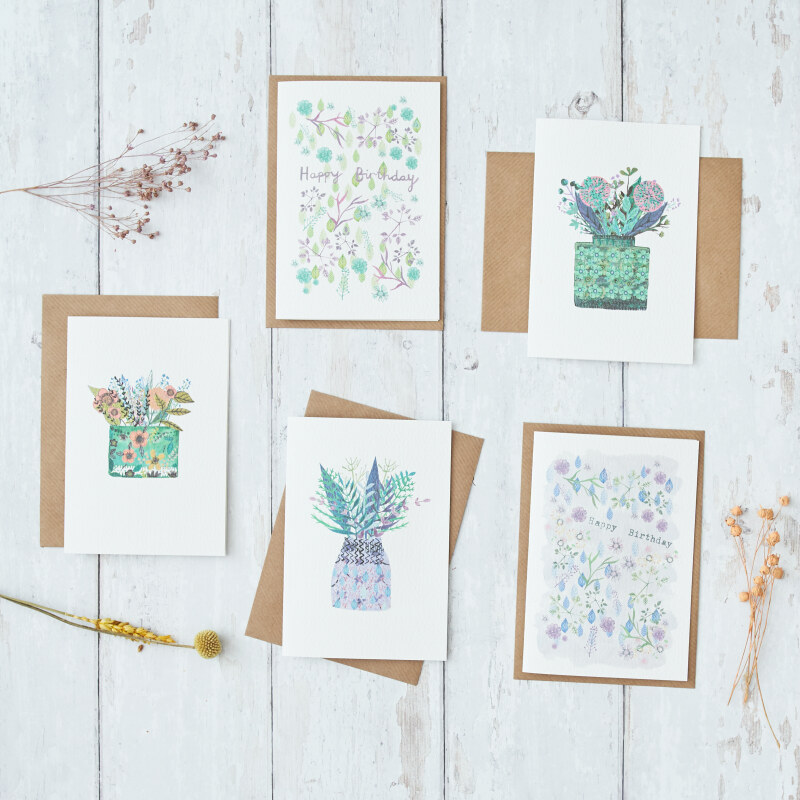 Pretty and colourful floral and botanical illustrations. Contact Angela for the code to access the wholesale catalogue.