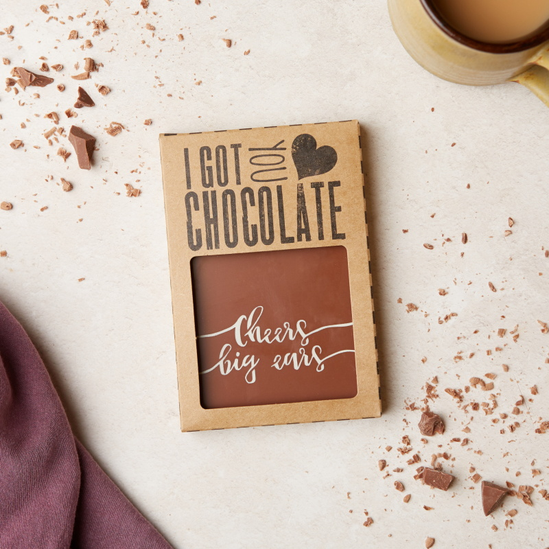 These Belgian milk chocolate bars with a cheeky 'Cheers big ears' message are a perfect tasty thank you gift.  A gift of appreciation and sarcasm all in one. Wholesale price:  £3.10 (RRP £7.45)