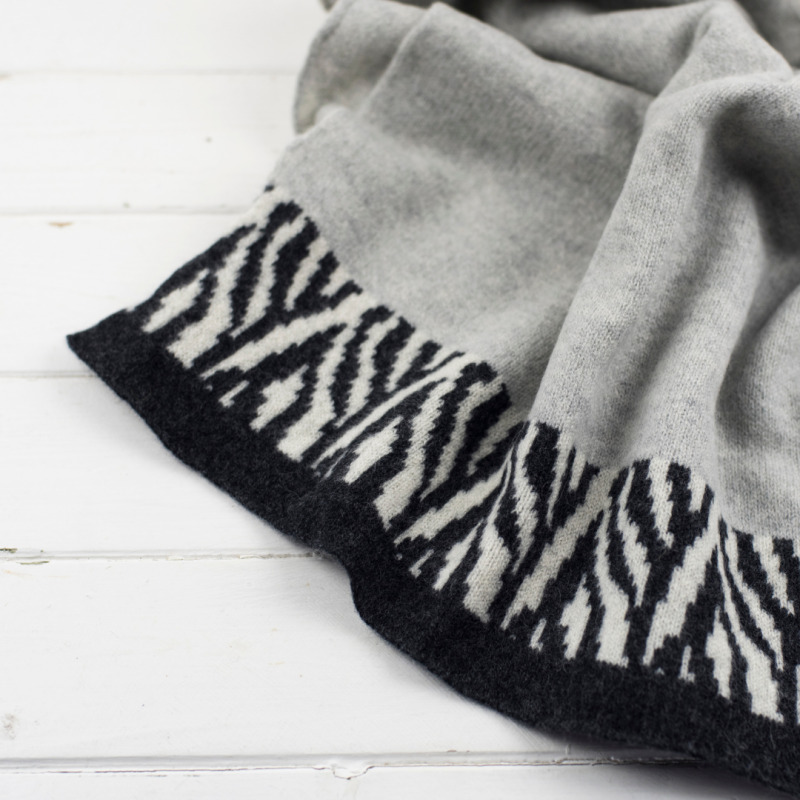 Knitted wrap / blanket scarf. Handmade in Britain from high quality lambswool.