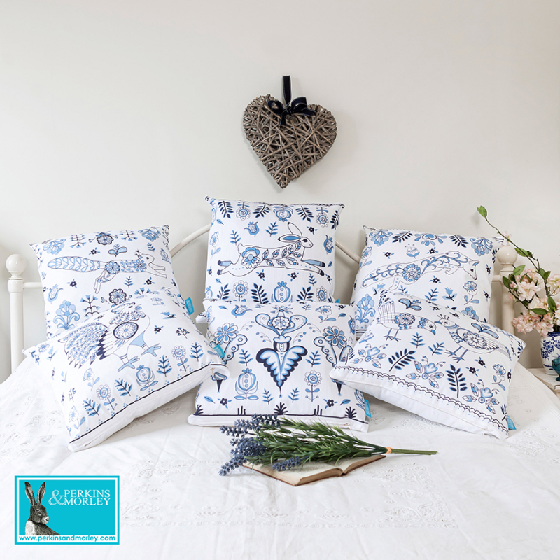 Bring in a bit of modern country style into your home with our gorgeous Delft cushion collection.  These cushions are made with super soft faux suede or are now available in cotton/linen blend.