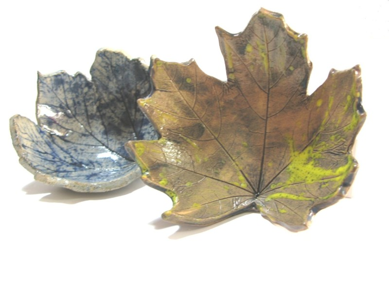 Our premium quality handcrafted ceramic leaf art bowls and dishes start their journey as a real leaf, harvested from our local woods, then impressed by hand into wet stoneware clay, shaped, moulded and high fired for 48 hours in our kiln.